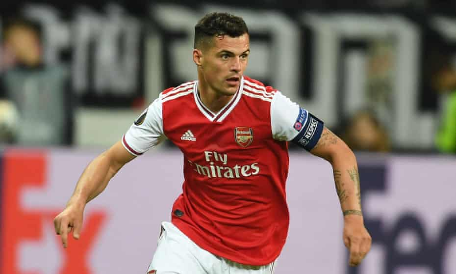 Granit Xhaka has been Arsenal's captain for much of this season but questions have been asked over his recent form and his place in the side.