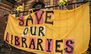A rally to save libraries in Lambeth, London