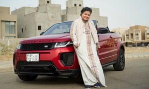 Hamsa al-Sonosi poses with her new Range Rover