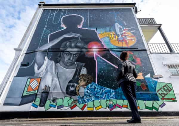 Dawn Mellor's mural for George Michael