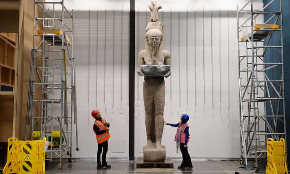 The 5.4-metre statue of Hapy