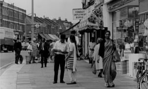 South Asian immigrants shopping in Southall, London, in 1970.
