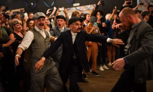 Actors recreate scenes during the Peaky Blinders festival in Birmingham.