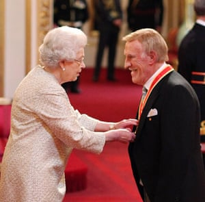 Bruce Forsyth is finally knighted by the Queen in 2011.