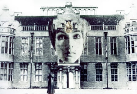 The self as muse … collage with country house.
