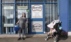 Lauren Lambert and her daughter at a branch of Your Local Pantry in Stockport.