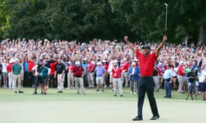 Tiger Woods wins at East Lake in September 2018 – one of the most evocative moments of his career.