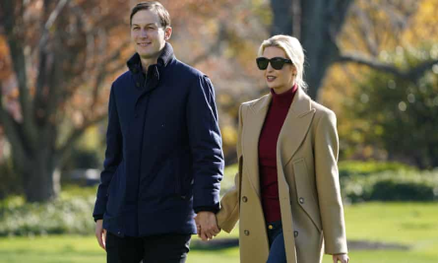 Heading for sunnier climes ... Jared Kushner and Ivanka Trump.