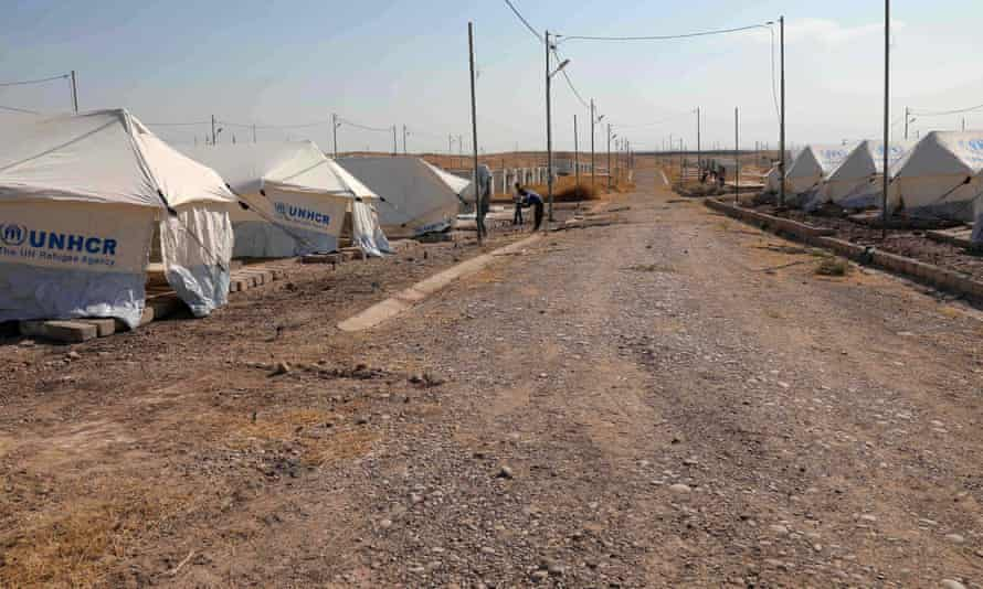 Tents at a camp for Syrian refugees in 2019