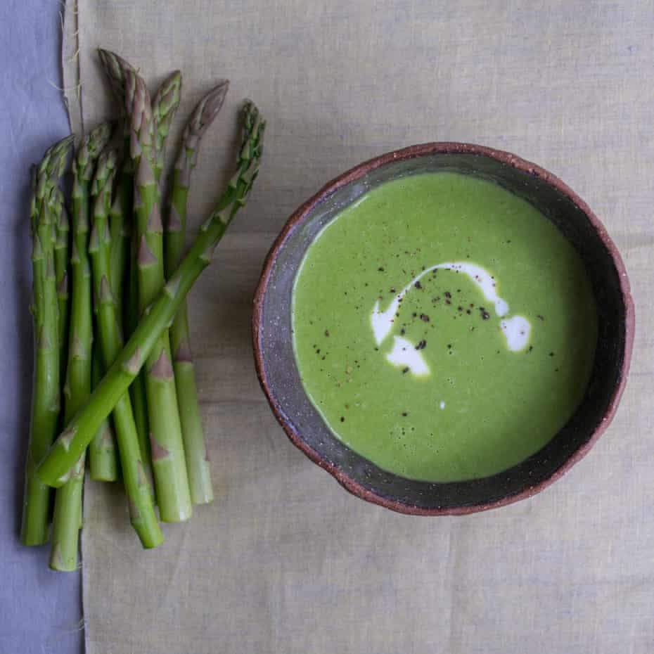 Amazing waste: Tom Hunt's asparagus stalk soup.