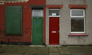 Home in Middlesbrough with red door