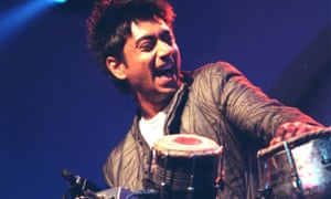 Talvin Singh performing at the Mercury prize ceremony in 1999.