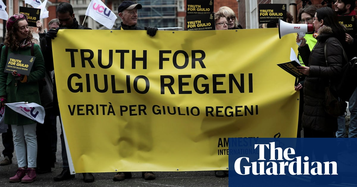 Giulio Regeni: trial of Egyptian security agents charged over death begins in Rome