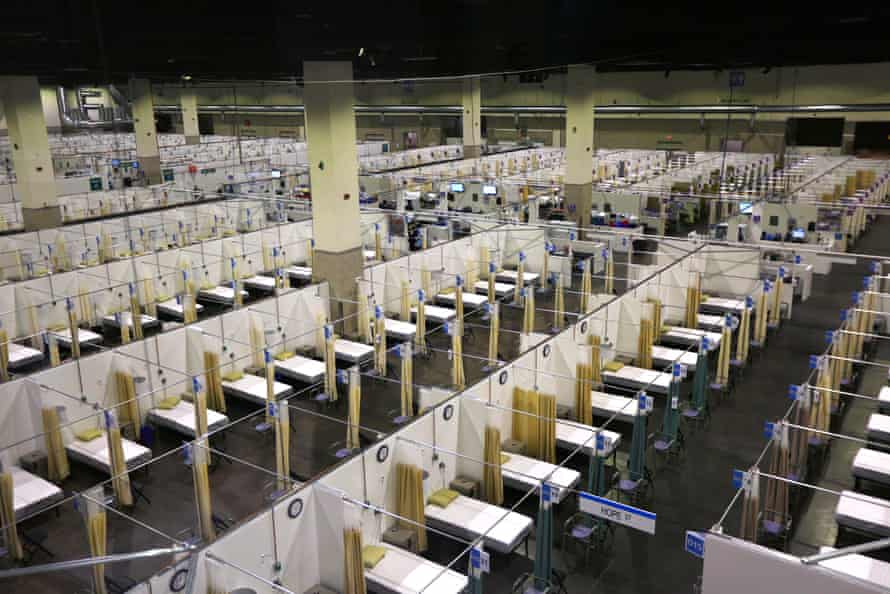 The Lifespan alternative hospital at the Rhode Island Convention Center in Providence, Rhode Island, will soon be in operation, during the continuing coronavirus pandemic.