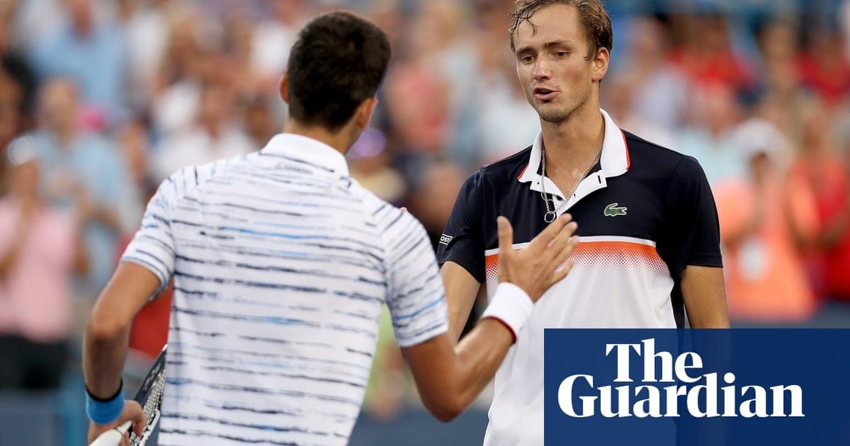 Daniil Medvedev stuns Novak Djokovic to set up Cincinnati final with Goffin