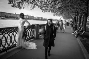 Russia, May 2017 Masuma walks in Gorky Park