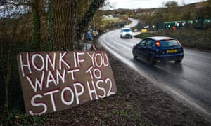Members of the climate change activist group Extinction Rebellion have joined protests against HS2.