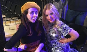 Niamh with model Kate Grant, Benefit's new brand ambassador