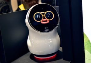 Computer says no … Cloi stopped responding to LG's vice president of marketing as he tried to show off the company's new toy.