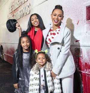 Mel B with her daughters, Phoenix, Angel and Madison in 2015