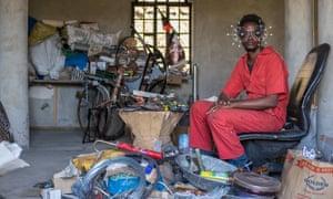 Cyrus Kabiru, an artist from Nairobi