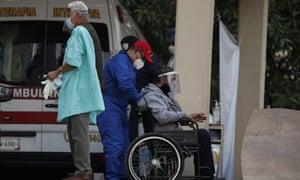 A coronavirus patient in Mexico City, Thursday, 7 January, 2021.