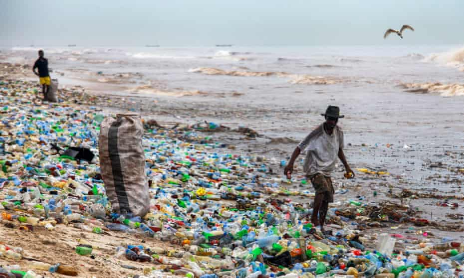 Plastic waste in Accra, Ghana. It takes 450 years for some plastics to biodegrade.