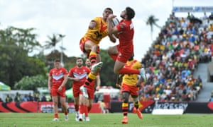 Wales in action against Papua New Guinea' at the 2017 Rugby League World Cup.
