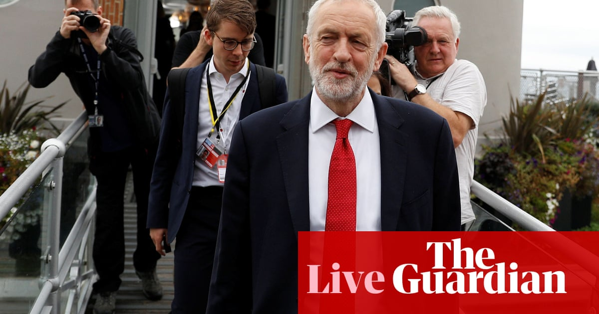Labour conference: Corbyn says he will serve full term as key aide quits - live news