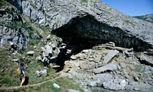 The entrance to Bacon Hole, an archaeological cave in Gower, Wales.