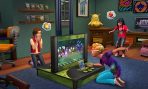 'It felt wonderful to return from the incomprehensibly dull monotony of school to a digital world I'd created, a kind of haven of order and control': a still from The Sims.