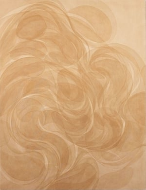 Ghostly … a painting that uses pigments made from collected soil.
