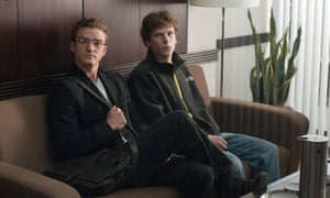 Timberlake with Jesse Eisenberg in The Social Network.