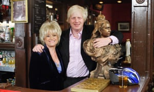 Barbara Windsor with Boris Johnson when he appeared on EastEnders in 2009.