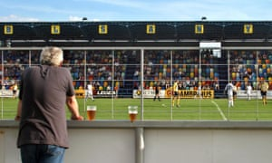 A Chmel Blsany fan watches his club play against against Liberec in the  first division in 8acda7288