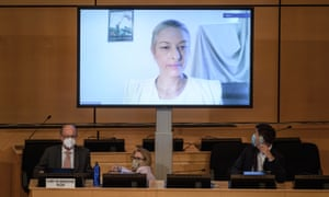 UN session with Anaïs Marin on video link