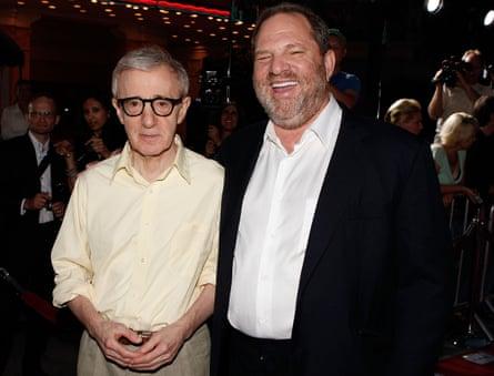 Woody Allen with Harvey Weinstein in2008