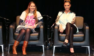 Laura Bates and Katie Price at a Women of the World event in London in 2014.
