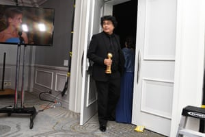 Bong Joon-ho, whose film Parasite, a South Korean drama about a poverty-stricken family, won the Golden Globe for best foreign language film