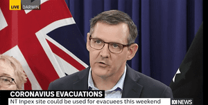Northern Territory chief minister Michael Gunner holds a press conference on the coronavirus evacuations.