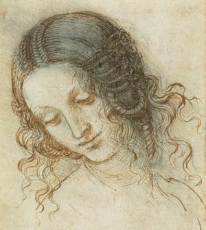 'The sheer surprise never ceases': The Head of Leda, c. 1504-6 by Leonardo da Vinci.