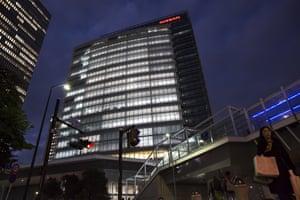 Headquarters Nissan Motor Co. in Yokohama, Japan, tonight.