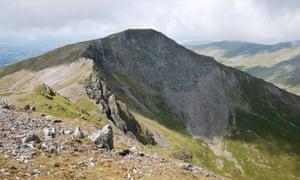 The outlying Carneddau peak of Yr Elen, Snowdonia, North Wales.
