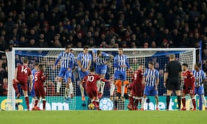 Philippe Coutinho scores Liverpool's fourth goal at Brighton on an afternoon when Jürgen Klopp's side sparkled.