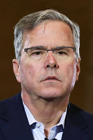 Jeb Bush photoshopped to wear Tom Ford - Square Metal Optical Frame in Black.