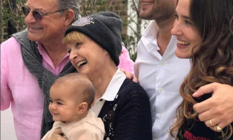 Tessa Jowell with her family after announcing she had a brain tumour
