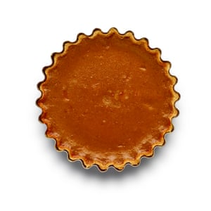 Felicity Cloake Pumpkin Pie. 6 Pour the filling into the case, bake until slightly wobbly in the centre, then cool before serving with cream .