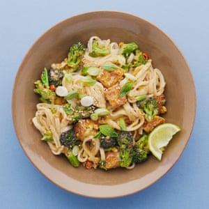 Peanut and broccoli pad thai