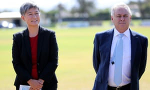 Senators Penny Wong and Don Farrell in February