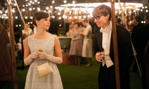 Felicity Jones and Eddie Redmayne star in The Theory of Everything.